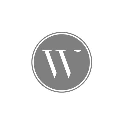 Waxinelichthouder grijs rond