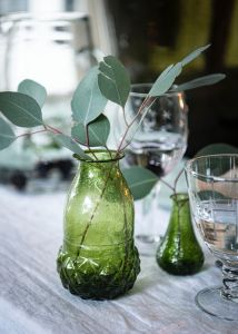 Vase recycled glass green