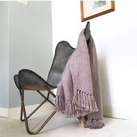 Ice Pink Solid Throw