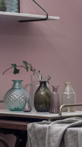 Vase recycled glass pink