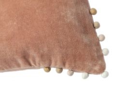 Velvet cushion with baubles