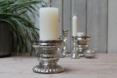 Candleholder silver colored