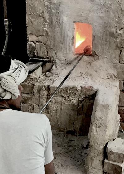 Traditional glassmaking